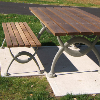 Concrete Classics New York Style Chess Tables And Park Benches - 7 foot picnic table